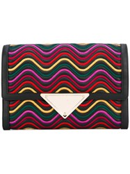 Sara Battaglia Elizabeth Waves Clutch Black