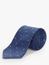Chester Barrie By Spot Silk Tie Blue