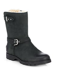 Ugg Grandle Leather Motorcycle Boots Black