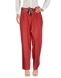 Atos Lombardini Casual Pants Brick Red