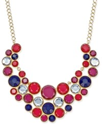 Inc International Concepts Gold Tone Multi Stone Statement Necklace Only At Macy's