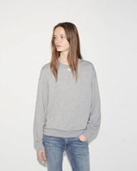 Alexander Wang French Terry Sweatshirt Heather Grey