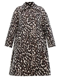 La Doublej Single Breasted Leopard Jacquard Coat Leopard