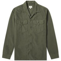 Hartford Jame Military Overshirt Green