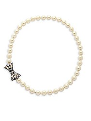 Miriam Haskell 8Mm Faux Pearl Necklace Silver