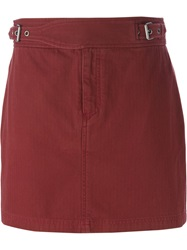 Marc By Marc Jacobs Buckled Short Skirt Red
