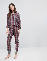 Esprit Checked Pyjama Bottoms Multi