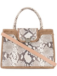 Jimmy Choo Rebel Tote Bag Brown