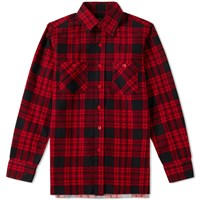 Needles Block Plaid Shirt Red