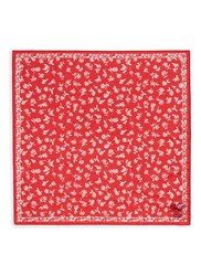 Rag And Bone Floral Print Cotton Silk Bandana Red
