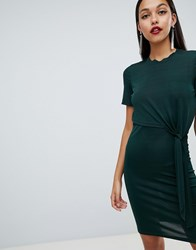 Y.A.S Lou Overlay Dress With Tie Detail Green