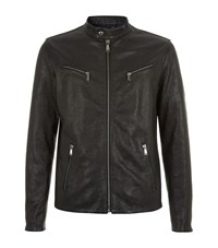 7 For All Mankind Leather Biker Jacket Male