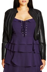 City Chic Plus Size Women's Faux Leather Bolero