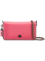 Coach Chain Strap Crossbody Bag Pink Purple