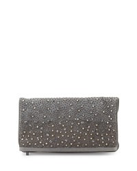 Rhinestone Waterfall Clutch Bag Gray Alice Olivia