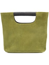 Simon Miller Cut Handle Tote Women Leather One Size Green
