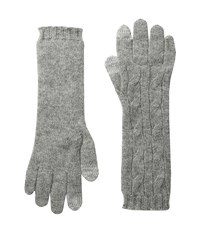 Polo Ralph Lauren Cashmere Cable Touch Gloves Fawn Grey Heather Extreme Cold Weather Gloves Black