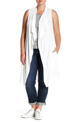 Bb Dakota Draped Long Vest Plus Size White