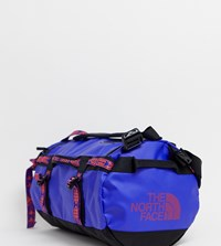 The North Face Base Camp Duffel Bag Extra Small 31 Litres In Geo Tribal Blue Blue