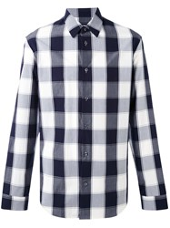 Maison Martin Margiela Plaid Shirt Men Cotton 42 Black