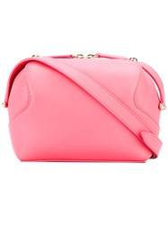 Delpozo Double Zip Crossbody Bag Pink Purple