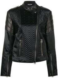 Tom Ford Animal Print Leather Jacket Black