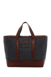 Cole Haan Grafton Leather Trimmed Tote Gray