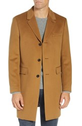 Ted Baker London Swish Wool And Cashmere Overcoat Camel
