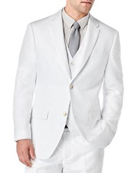 Perry Ellis Big And Tall Linen Suit Jacket Bright White