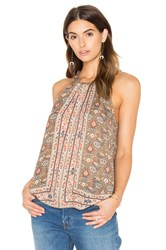 Joie Bradie Silk Tank Brown
