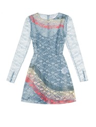 Red Valentino Rainbow Floral Lace Dress