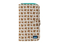 Kavu Tango Clutch Desert Stars Checkbook Wallet Brown