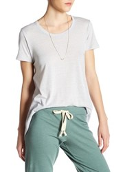 Candc California Willow Drapey Crew Tee Gray
