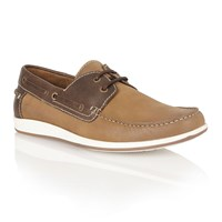 Lotus Exmouth Lace Up Casual Boat Shoes Chestnut