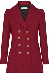 Philosophy Di Lorenzo Serafini Double Breasted Twill Blazer Claret