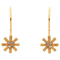 Cachet Swarovski Crystals Snowflake Earrings Rose Gold
