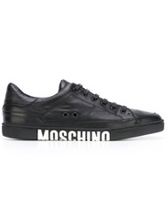 Moschino Low Top Logo Sneakers Black