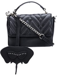 Christian Siriano Small Quilted Flap Satchel Black