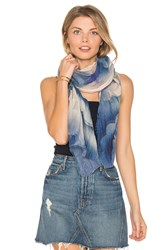 Marc Jacobs Clouds Stole Scarf Blue