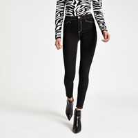 River Island Black Molly Contrast Mid Rise Jeggings