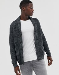 Pier One Wool Blend Cardigan In Grey With Chunky Collar
