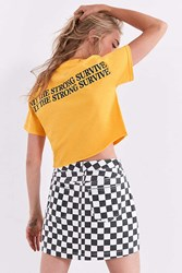 Urban Outfitters Only The Strong Survive Cropped Tee Yellow