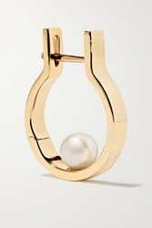 Hirotaka Tribal 10 Karat Gold Pearl Earring One Size