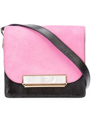 Hillier Bartley Block Panel Shoulder Bag Women Cotton Polyester Calf Suede One Size Pink Purple