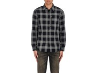 R 13 R13 Men's Plaid Cotton Blend Shirt Black