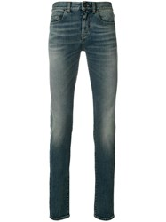 Saint Laurent Slim Fit Jeans Cotton Spandex Elastane Blue