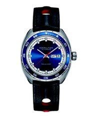 Hamilton Pan Europ Day Date Interchangeable Strap Watch Marine Blue