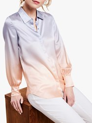 Pure Collection Silk Ombre Blouse Peach Ombre