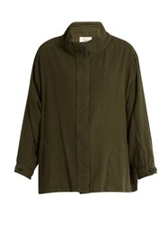 The Great Slouchy Army Cotton Jacket Khaki