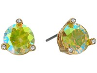Kate Spade Rise And Shine Small Studs Peridot Ab Earring Green